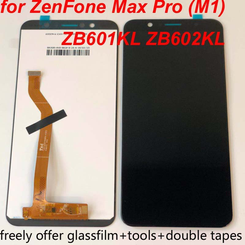 "No Dead Pixel 5.99""LCD Display For Asus ZenFone Max Pro (M1) ZB601KL ZB602KL Touch panel glass Screen Digitizer assembly+Frame"