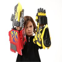 Soft Gun Movable Wearable Arm Glove Launch Sound Laser Weapon And Hand Led AR Gun Toy with 1000 Dry Water Bullets