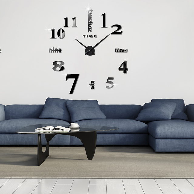 great original accueil dcoration horloge murale grand miroir horloge murale design moderne. Black Bedroom Furniture Sets. Home Design Ideas