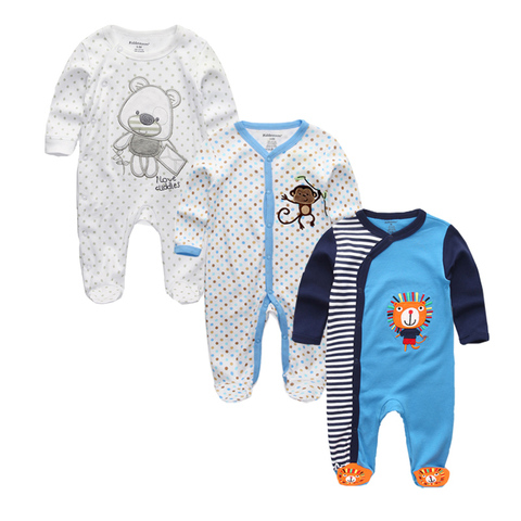 2019 Unisex 2/3pcs/lot Baby Rompers 0-12M Pajamas Newborn Clothing Set Baby Girls Clothes Baby Boy Clothes O-Neck Roupa de bebe Karachi