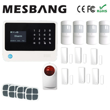 white wifi GSM GPRS wireless alarm system smart home wireless outdoor siren with English French Russian