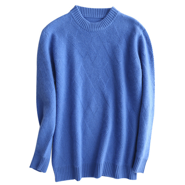 Men Jumpers 100% Pashmina Pullovers Winter New Thicker Warm Pure Goat Cashmere Sweaters Man Knitwear Standard Clothes Male Tops 5