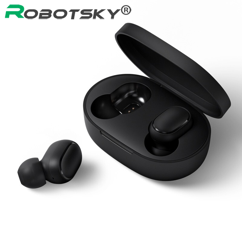 Wireless Earphone For Xiaomi Redmi Airdots Earbuds Bluetooth 5.0 TWS Headsets Noise Cancelling Mic For IPhone Huawei Samsung A6S