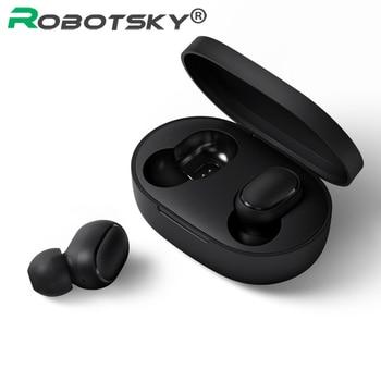 A6S หูฟังไร้สายกีฬาหูฟังบลูทูธ 5.0 TWS ชุดหูฟังตัดเสียงรบกวนพร้อมไมโครโฟนสำหรับ iPhone Huawei Samsung Xiaomi Redmi
