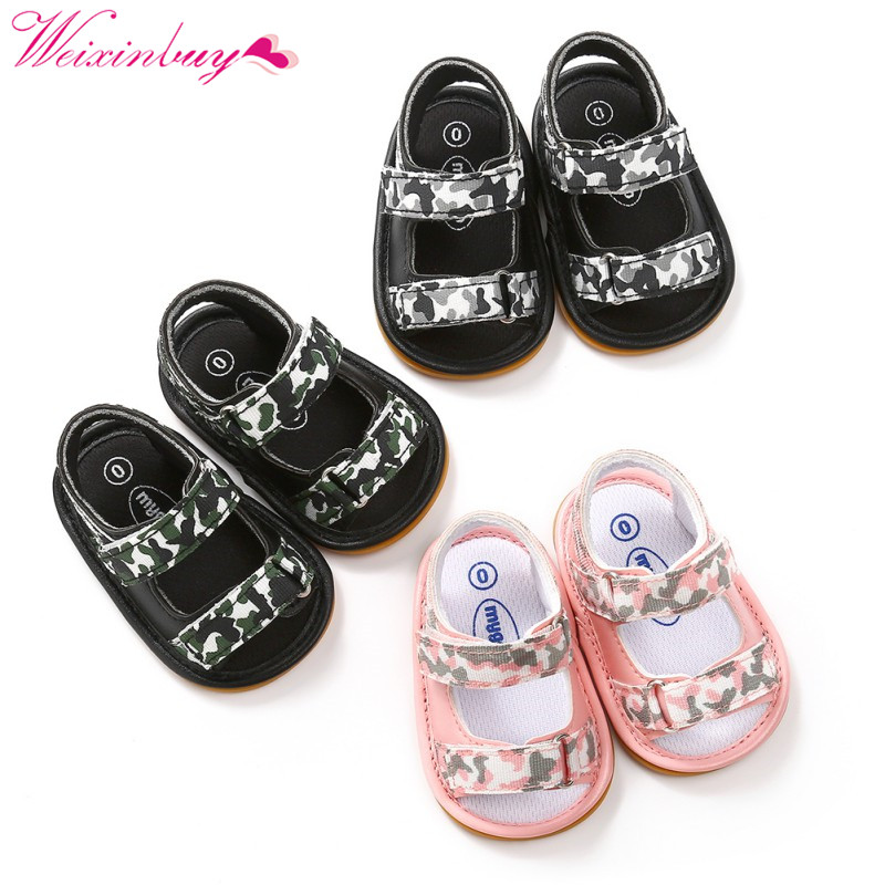 2018 Baby Girl Boy Sandals Baby Shoes Fashion PU Camouflage Breathable Baby Boy Sandals Summer Baby Girl Sandals