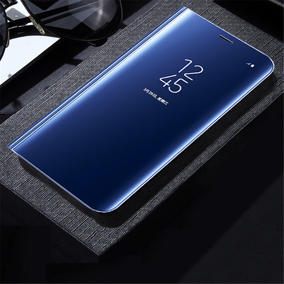 timeless design 07e78 774ff US $3.59 |Luxury Mirror Clear View Case For iPhone X 7 8 6 6S Plus Smart  Cover Hard Plastic Back Cases For iPhone 7 Mirror Flip Case Coque-in Flip  ...