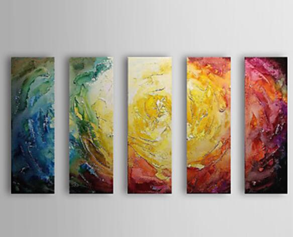 Color Your Life Top Quality Modern Abstract Oil Painting On Fabric ...