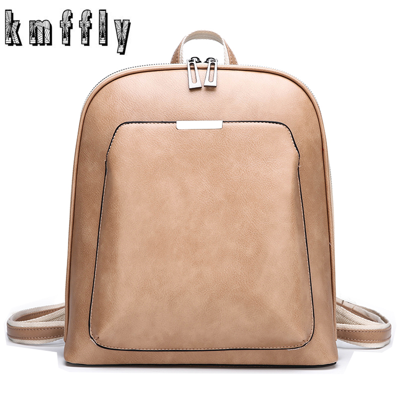 Backpacks School Shoulder-Bag Fashion Solid Women for Girls Female Sac Dos High-Quality