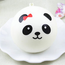 10cm Panda Squishy Charms Kawaii Buns Bread Cell Phone Key Bag Strap Pendant Squishes(China)