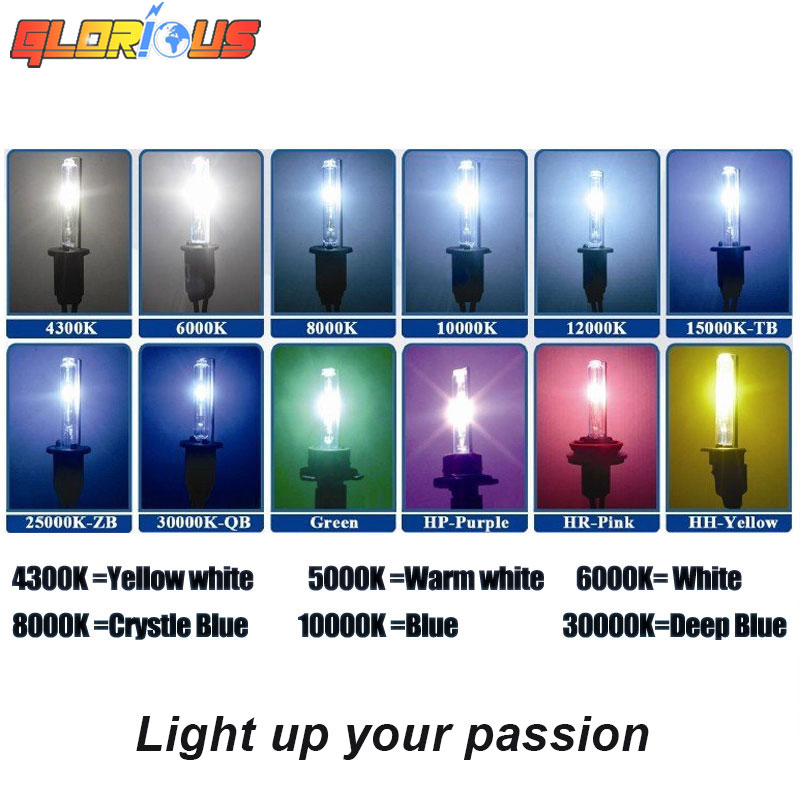 Satu set H7 xenon HID kit 55 W untuk lampu mobil lampu H4 H8 H9 H11 - Lampu mobil - Foto 4