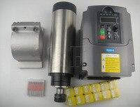 ER 20 24000RPM 2.2KW air cooled spindle motor 4 bearing+2.2KW VFD inverter+spindle clamp +12 pieces ER20+CNC engraving bits