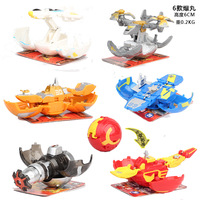 Magnetic Deformation Ball Action Toy Figures Diameter 6cm Capsule Egg Toy No Repeat Free Cards for Gift Assembly Doll
