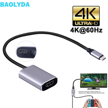 Baolyda USB C to HDMI PD Port Converter USB Type C HDMI Adapter 4k 60hz for Macbook Thunderbolt 3 HDMI Mobile to TV Switch Dock chyi usb 3 1 hub type c to hdmi vga pd 4k hd tv transmitter thunderbolt 3 type c female with usb 3 0 5gbps port splitter adapter
