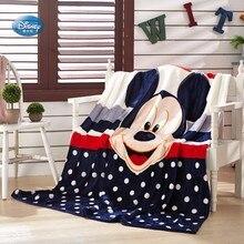 דיסני קריקטורה פו מיקי עכבר תפר רך פלנל שמיכה לזרוק עבור תינוק בנות בנים על מיטת ספת ספת 150X200CM ילדים מתנה