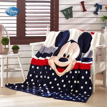 Disney Cartoon Winnie Mickey Mouse Stitch Soft Flannel Blanket Throw for Baby Girls Boys on Bed Sofa Couch 150X200CM Kids Gift