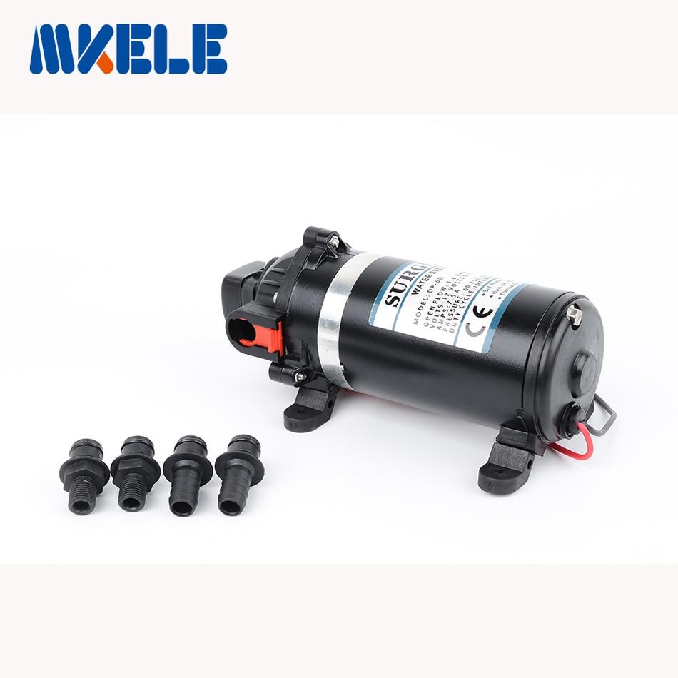 ФОТО DP-60 DC 12v Water Pump High Pressure Diaphragm Pump 9.5m lift Submersible pumps For Chemical 60psi
