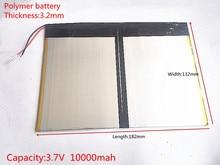 Free shipping Tablet PC talk9x u65gt,battery 3.2*132*182 3.7V 10000 mah Li – ion battery 'for 32132182