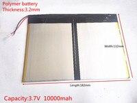 Free Shipping Tablet PC Talk9x U65gt Battery 3 2 132 182 3 7V 10000 Mah Li