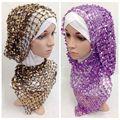 Мода блестка долго мусульманин хиджаб для женщин мусульманин красивый шарф, шаль