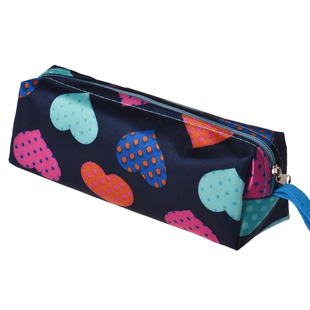 2015 New Fashion Women Makeup Bag Heart Square Multicolor Cosmetic Bag Bolsa de maquillaje Trousse de maquillage Wholesale