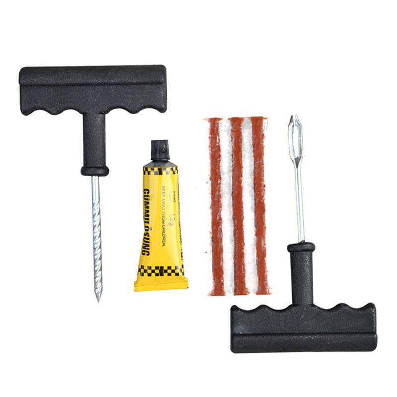 New 1 Set Auto Car Tire Repair Kit Car Bike Auto Tubeless Tire Tyre Puncture Plug Repair Tool Kit Tool Car Accessories DXY