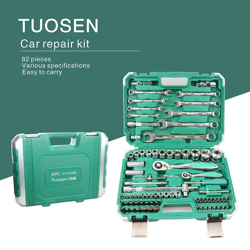 Auto Kits Car Repair Tool Set Mechanic Tools Box Wrench Hand Kit Socket Professional With Ratchet Auto Kits Herramientas Screwdr