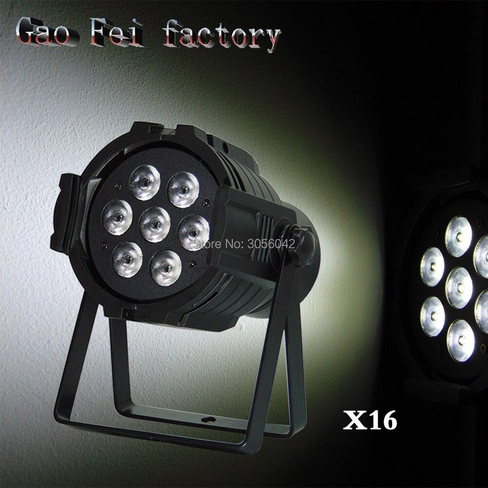16pcs/lot 7x12W LED Par RGBW DMX512 Disco Lamp stage light Voice activated For Discos Music Light Disco Bulb цена
