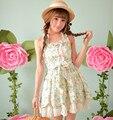 Принцесса сладкий лолита платье Конфеты дождь новые летние цветочные рукавов Чистый и свежий жилет платье C15AB5708