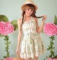 Princess sweet lolita dress Candy rain new summer floral sleeveless Pure and fresh vest dress C15AB5708