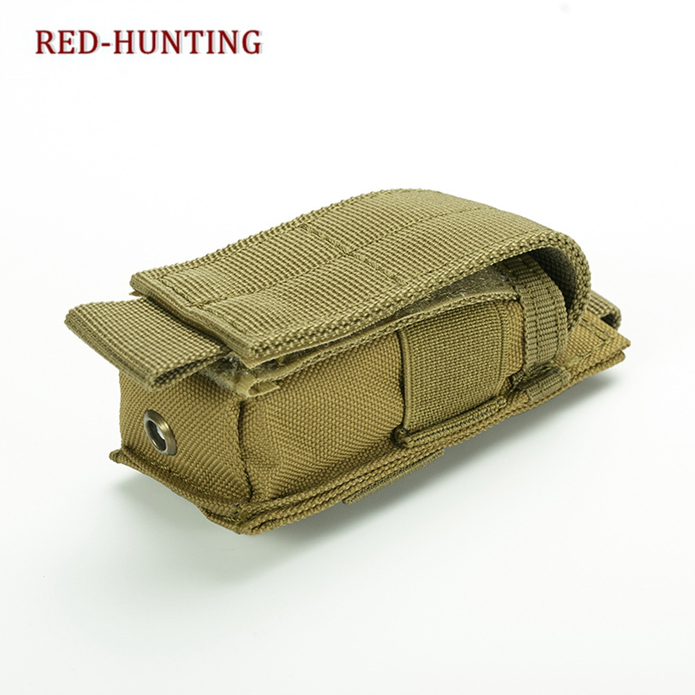 Adjustable Molle Flashlight Holster Outdoor Sports LED Torch Knife Tool Holder Case Handgun Mag Pouch