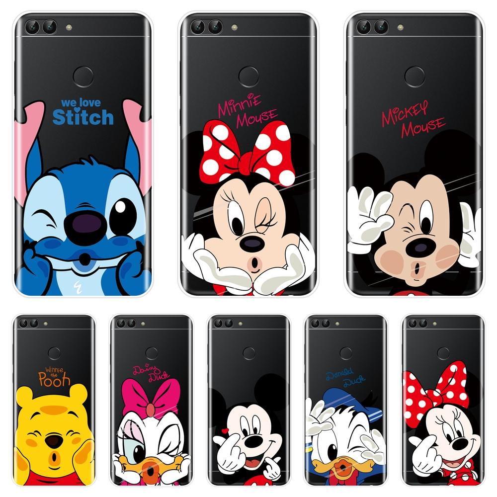 Mickey Minnie Mouse Phone Case Silicone For Huawei P9 P10 P20 Lite ...