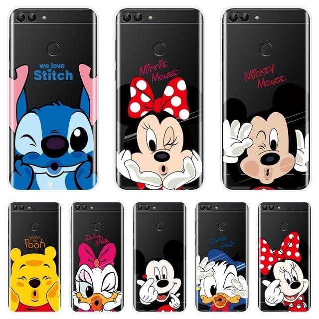 Микки и Минни Маус Мышь силиконовый чехол для телефона для huawei P9 P10 P20 Lite P Smart плюс мягкий чехол для задней крышки для P8 P9 Lite Mini 2017 чехол