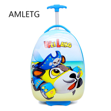 Lovely Cartoon Kid's Travel Trolley Bags Suitcase for Kids Children Luggage Suitcase Rolling Case Travel Bag on Wheels  Luggage fashion luggage inches girl trolley case pp students lovely travel waterproof luggage rolling suitcase extension boarding