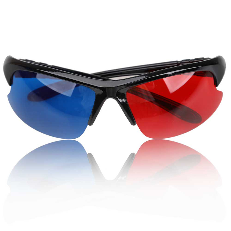 3D Plastic <font><b>Glasses</b></font> <font><b>Black</b></font> <font><b>Frame</b></font> <font><b>Red</b></font> <font><b>Blue</b></font> 3D Visoin <font><b>Glass</b></font> <font><b>For</b></font> <font><b>Dimensional</b></font> Anaglyph Movie Game DVD Video TV Eyes