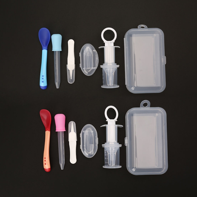 Gutherzig 5 Teile/satz Baby Kinder Medizin Dispenser Dropper Zahnbürste Gesundheit Pflege Kit Feed Medikamente Nadel Feeder Utensil Medizin Dropper Pflege Und Gesundheits-kits