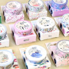 15mm X 7m Cute Lot kawaii Flower food animals Decorative Washi Tape DIY Scrapbooking Masking School Office Supply