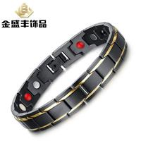 8 5 Inch Top Quality Health Men Bracelet Bangle 316L Stainless Steel Magnetic Care Jewelry Black