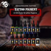Dragonhawk TATTOO INK 14 PACK Primary Color Set 0.5oz Bottles