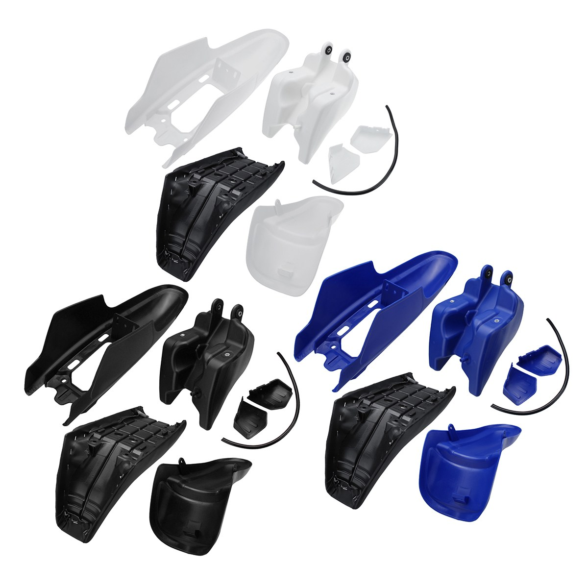 One set For Yamaha PW50 PY50 Plastic For Fender Body Seat Gas Tank Kit Blue White Black fender squier jim root telecaster flat white
