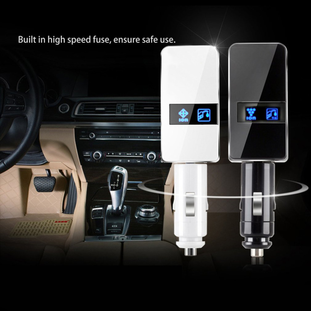 Car Air Purifier Oxygen Freshener Automobile Voltage Stabilizer Adjustable Car Air Purifier Environmental Anion Car Fuel Saver