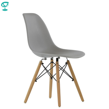94990 Barneo N-12 Plastic Wood Kitchen Breakfast Interior Stool Bar Chair Kitchen Furniture Gray free shipping in Russia