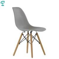 94990 Barneo N 12 Plastic Wood Kitchen Breakfast Interior Stool Bar Chair Kitchen Furniture Gray free shipping in Russia