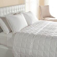 fp白いアヒルダウン100 gsm送料無料 ダウンキルト/毛布/布団でサテントリム綿100%ツインサイズ充填550