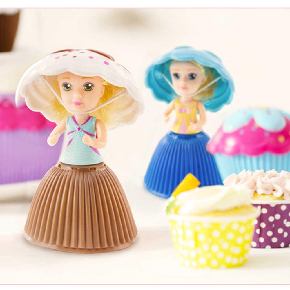 בובות הקאפקייקס חמה מכירה עם מתוק טעם עוגת Deformable 1 יחידות ילדה בובת מתנת יום הולדת צעצוע חמוד עוגת כוס מיני Bonecas Juguetes