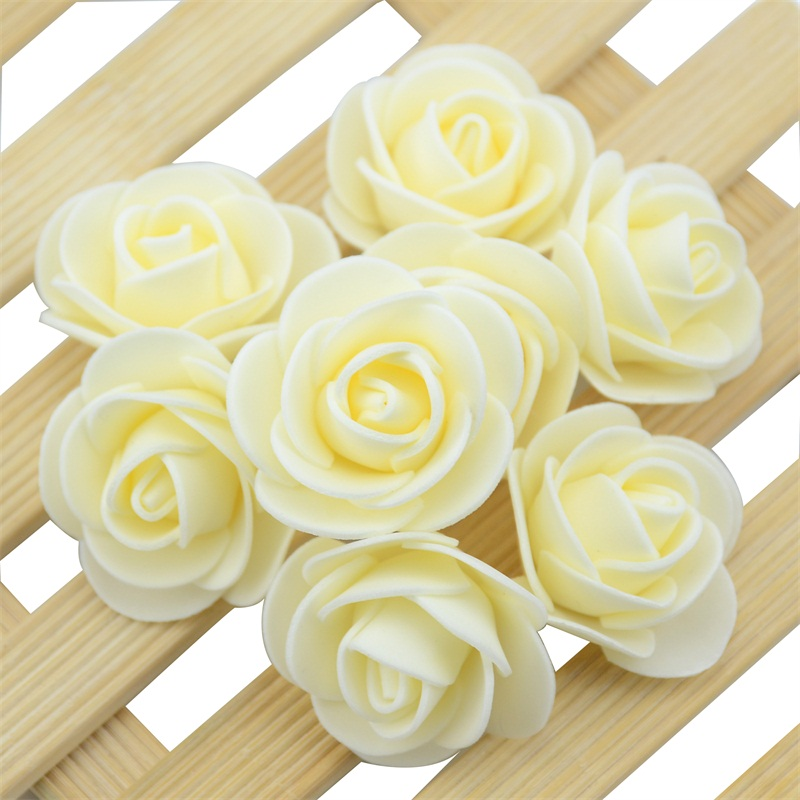 50pcs/Bag Multicolor Mini Rose Head Artificial Flowers For Wedding And Festival Party 14