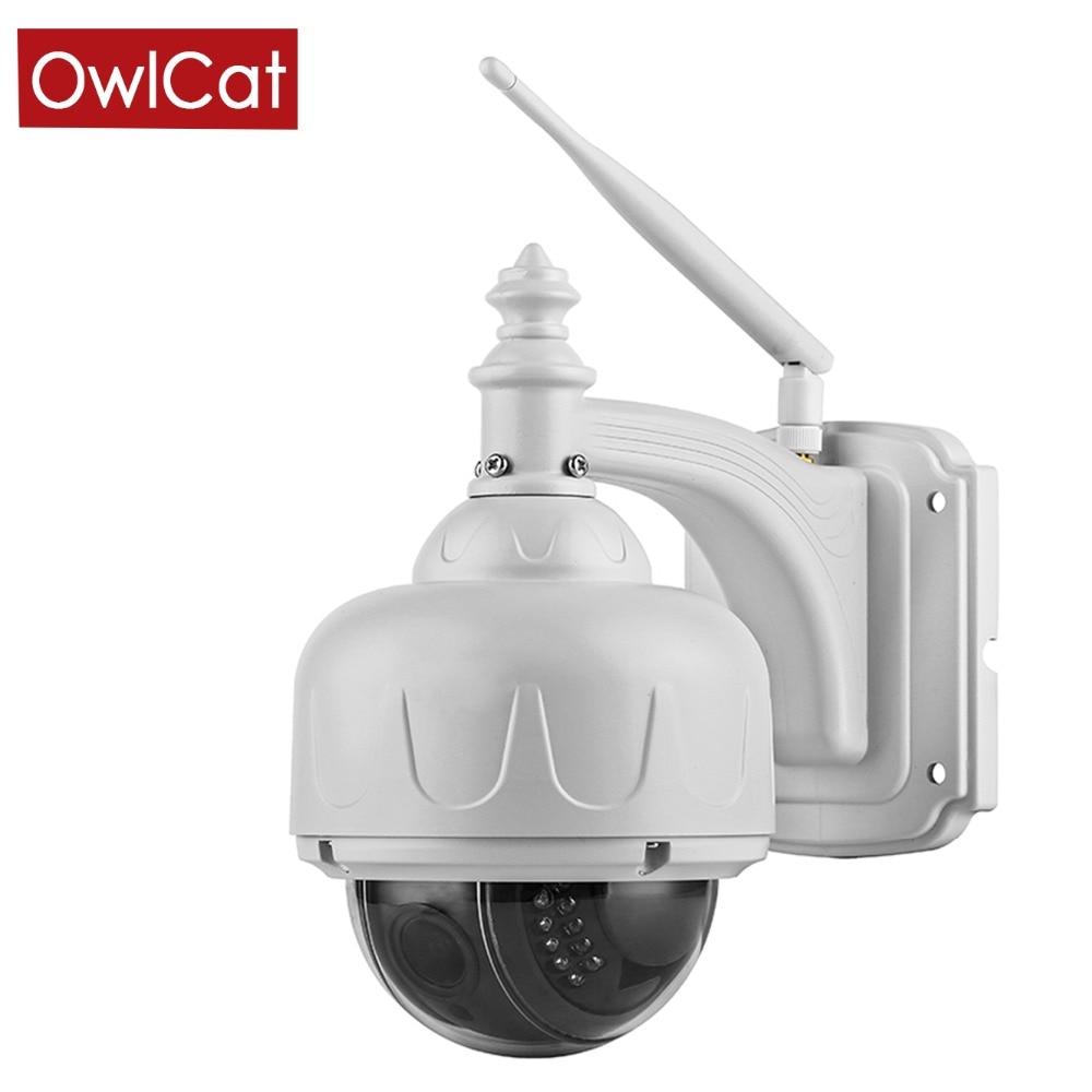 Caméra IP PTZ dôme sans fil OwlCat WIFI 5X opticl Zoom extérieur étanche IR CCTV HD 1080 P Microphone stockage de mémoire Audio Onvif
