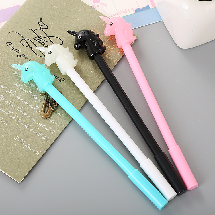 40 Pcs Creative Stationery Fresh Student Candy Unicorn Neutral Pen Office Supplies Cute Cartoon Water-based Signature Pen Moderate Cost