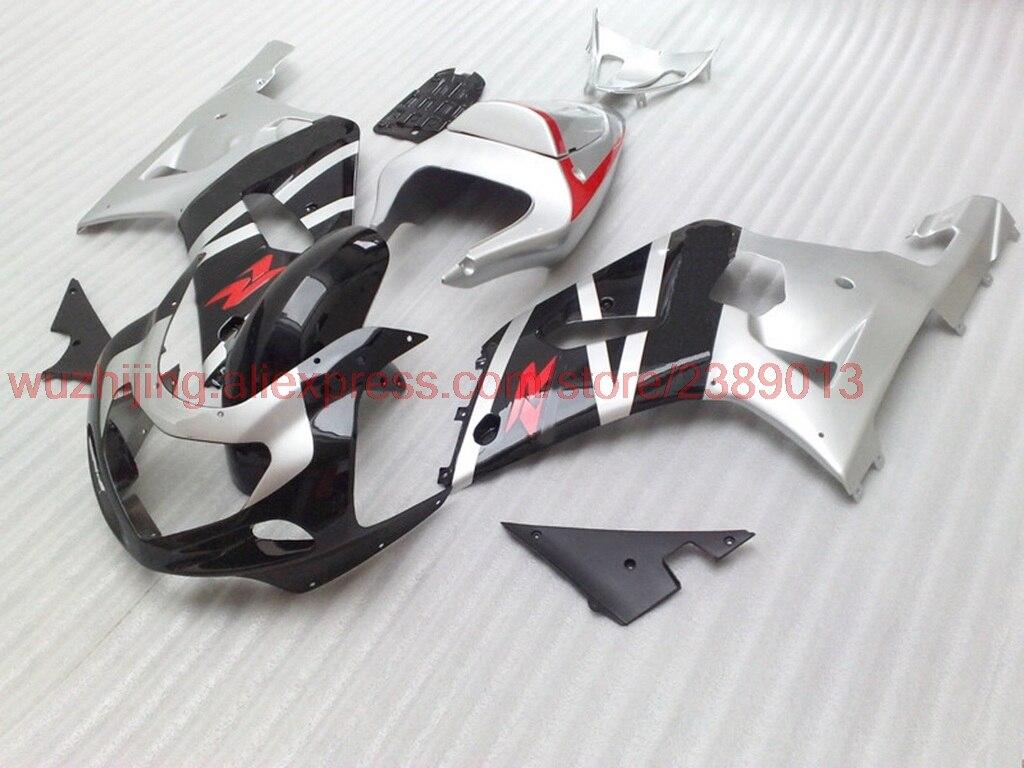 GSXR1000 2000-2003 K1 K2 2002 Наборы тела GSX-R600 2003 Черный Серебристый Пластик Обтекатели GSX R 600 750 1000 00 01 обтекатели
