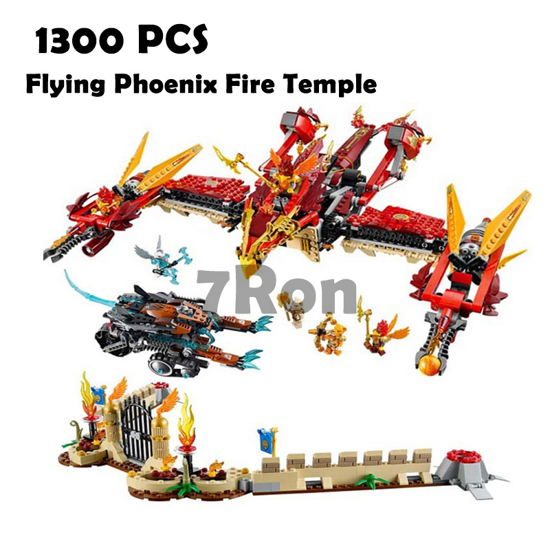 Compatible with lego 70146 Models building toy 10298 1300PCS Flying Phoenix Fire Temple Building Blocks toys & hobbies compatible with lego ninja 70596 models building toy 10530 1307pcs base home samurai x cueva building blocks toys
