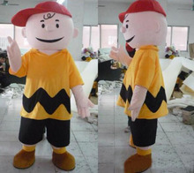 Hot sale Fancy Dress Charlie Brown MASCOT Adult Carnival Mascotte cosply Dress